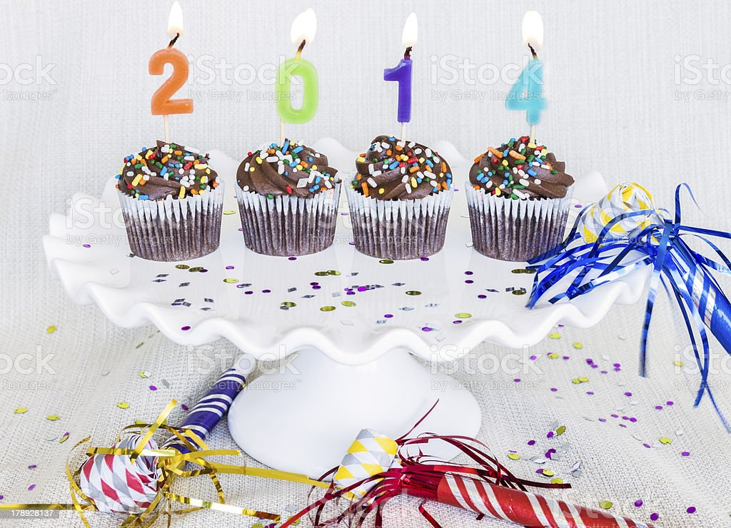 New Year Cupcakes royalty-free stock photo