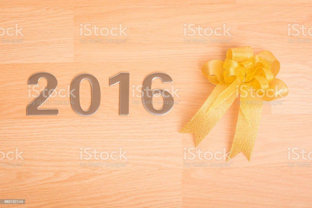 New year decoration, Closeup on 2016 stock photo