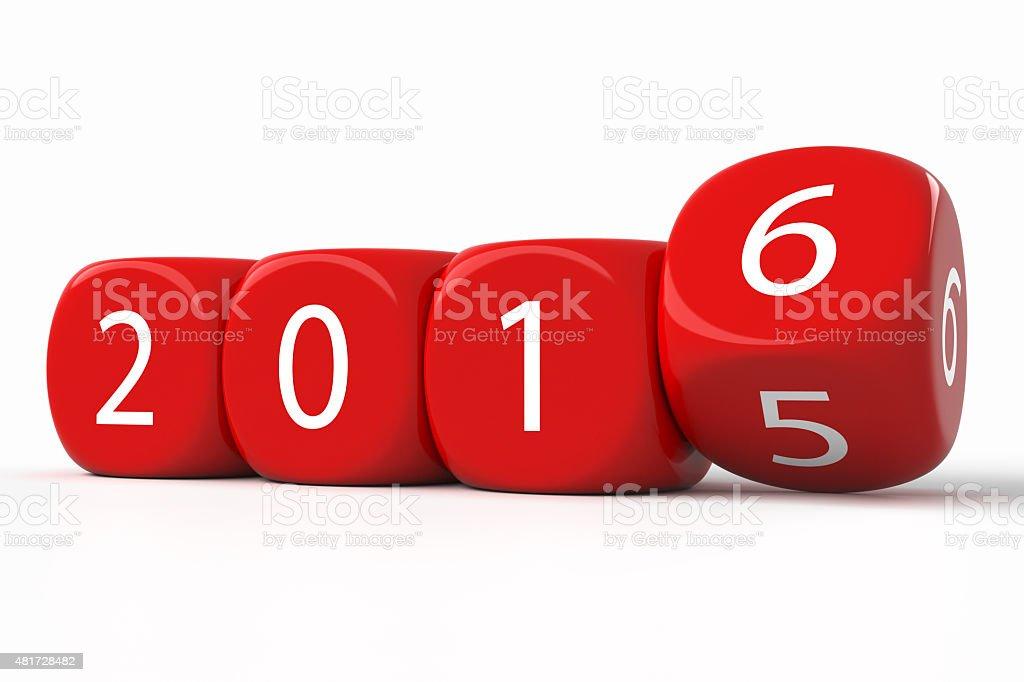 2016 new year dice stock photo
