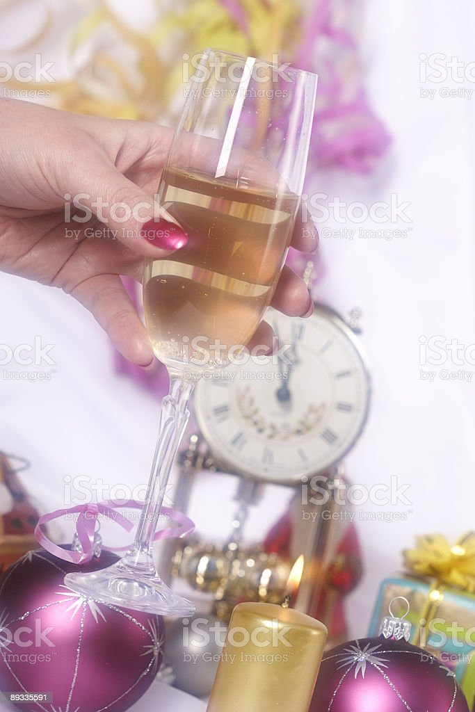 New year eve and champagne royalty-free stock photo