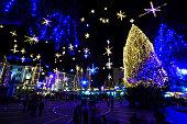 New Year Eve at center of Ljubljana, Slovenia