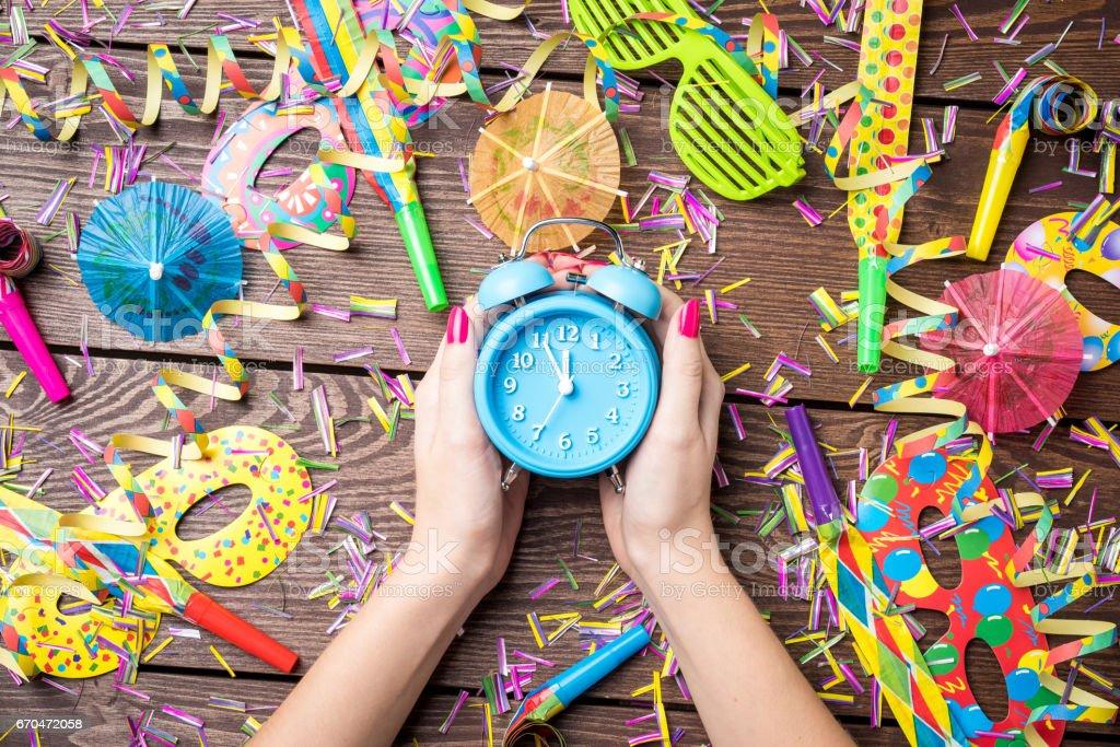 New Year Eve celebration background stock photo