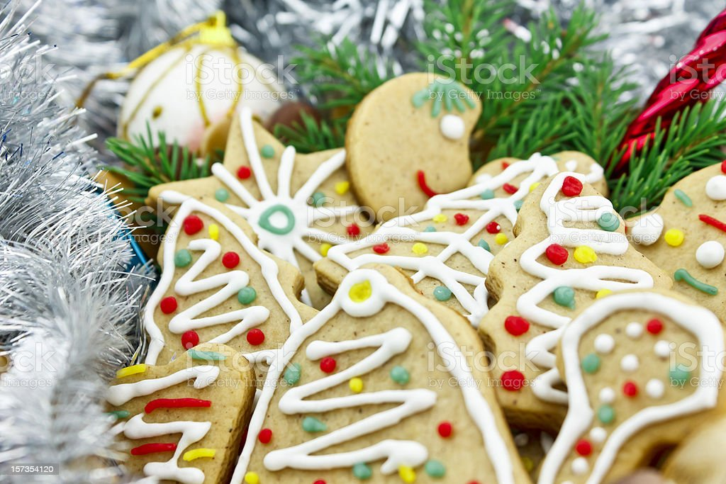 New Year festive gingerbread royalty-free stock photo