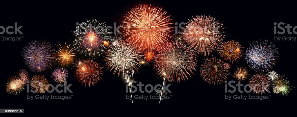 New year fireworks royalty-free stock photo