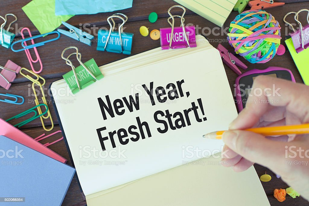 New Year Fresh Start stock photo