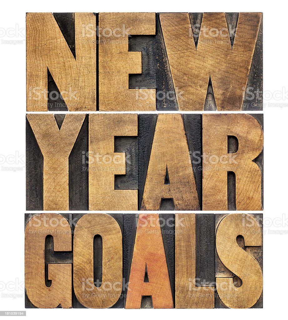 New Year goals royalty-free stock photo