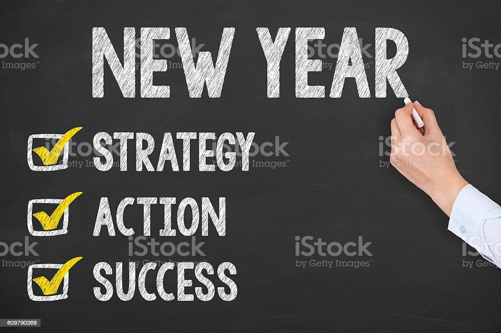 New Year Goals stock photo
