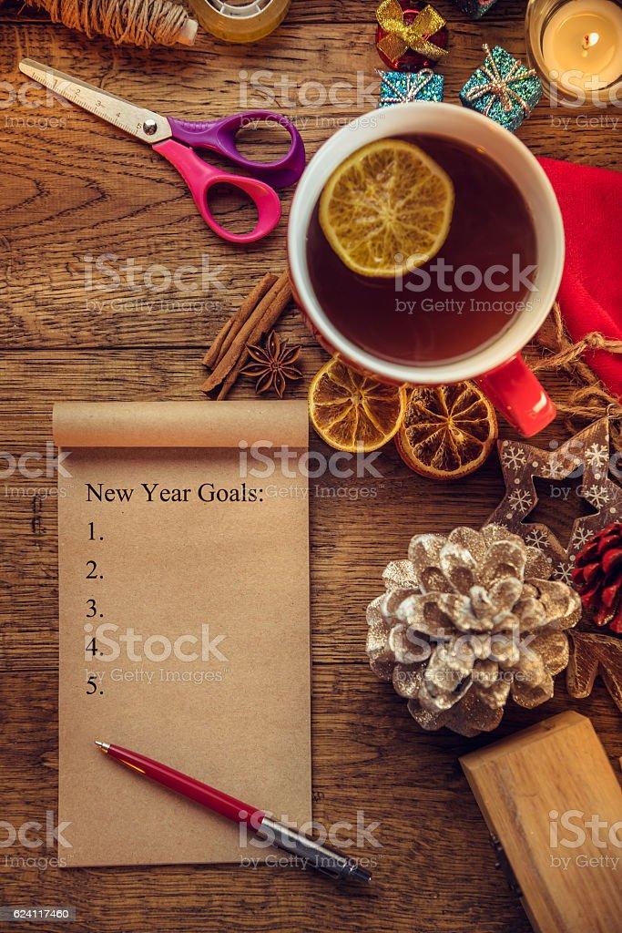 New Year Goals stock photo