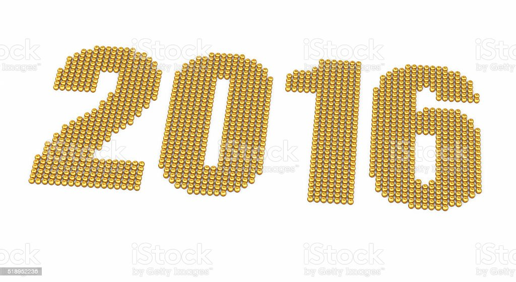 New year Gold Apples stock photo
