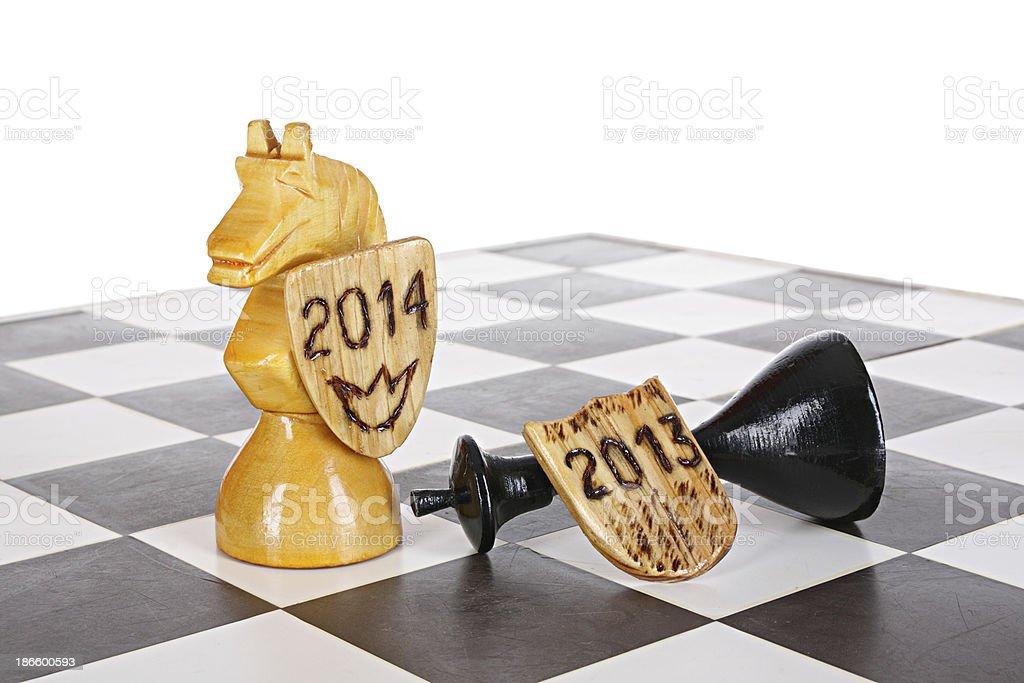 New Year horse idea stock photo