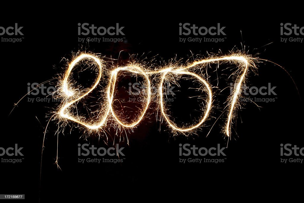 new year just come in (2007) stock photo