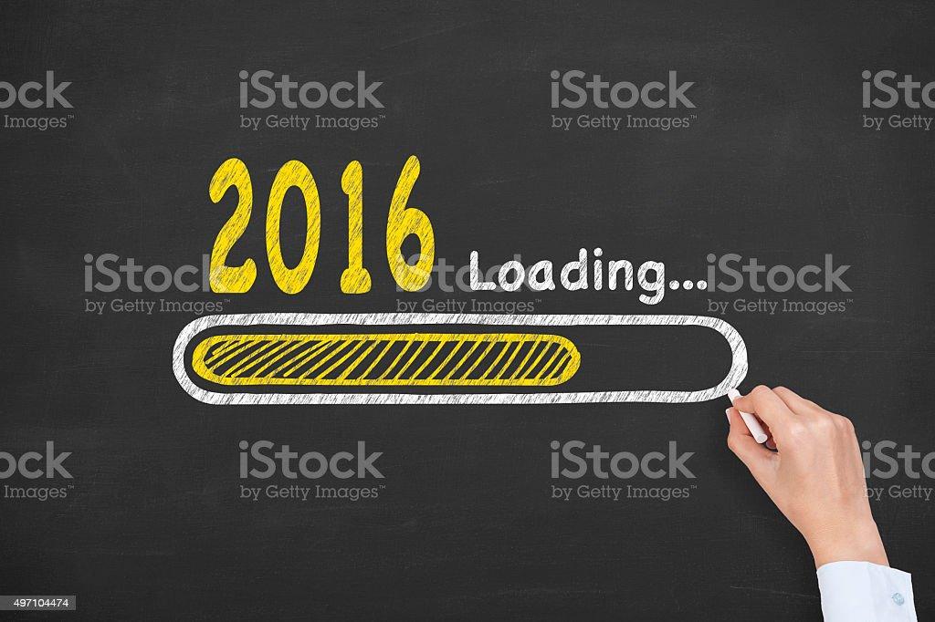 New Year Loading stock photo