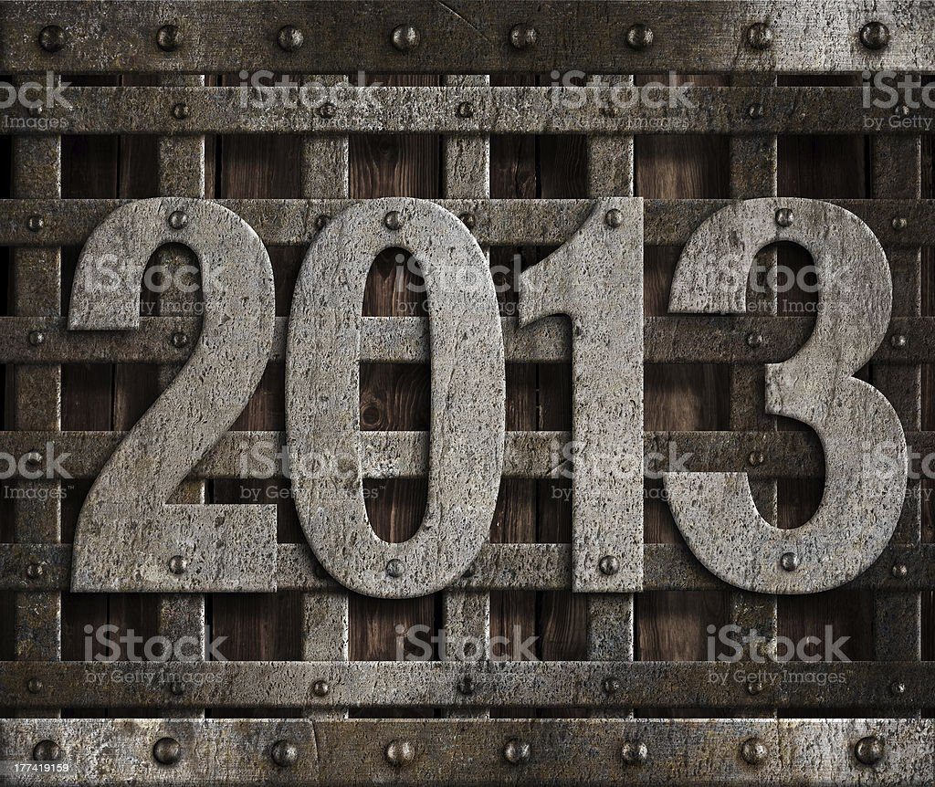 2013 new year metal illustration royalty-free stock photo