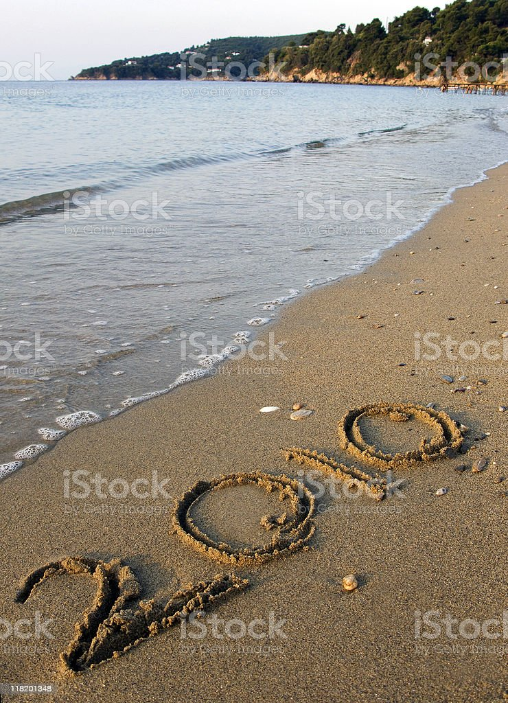 New Year on the Beach stock photo