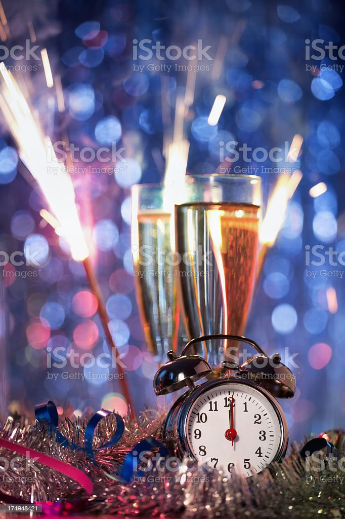 New Year Party Decoration royalty-free stock photo