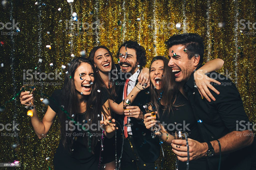 New year party stock photo