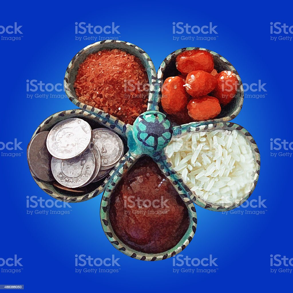 PERSIAN new year stock photo