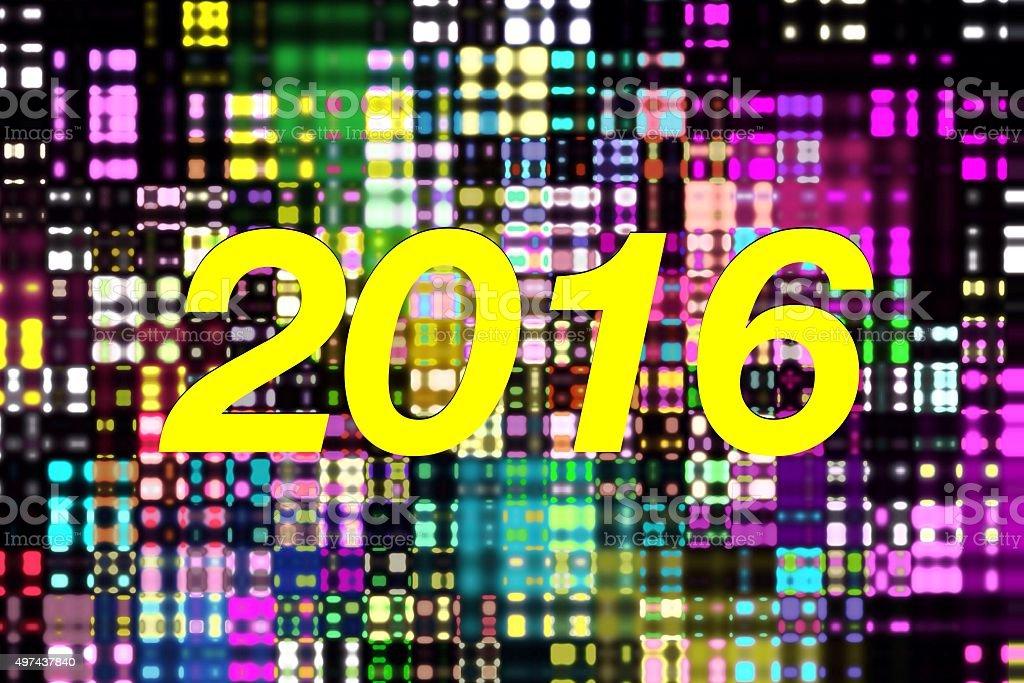 2016 New Year stock photo