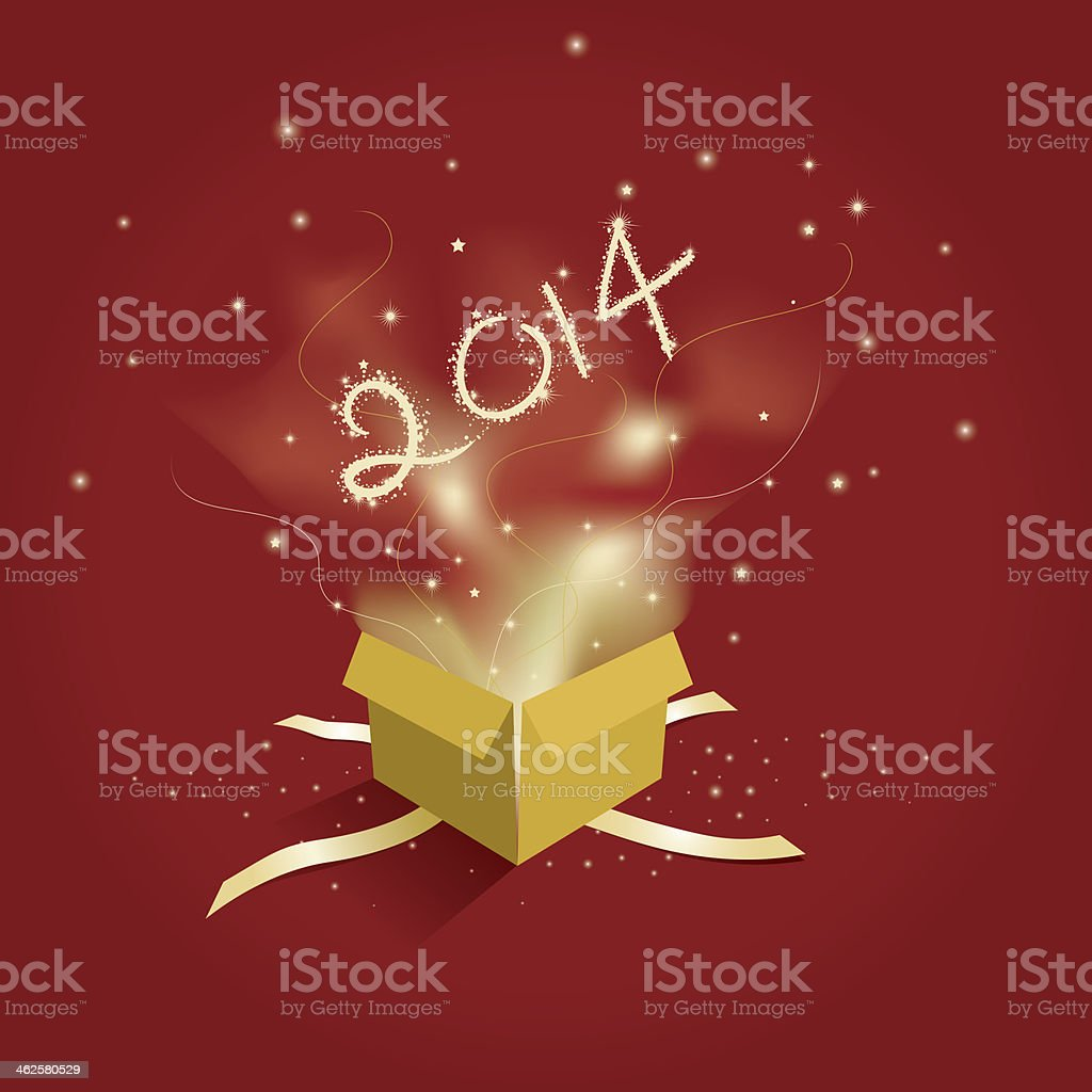 New Year Present royalty-free stock photo