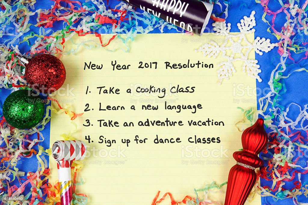 List of New Year\'s 2017 Resolutions to take an adventure vacation,...