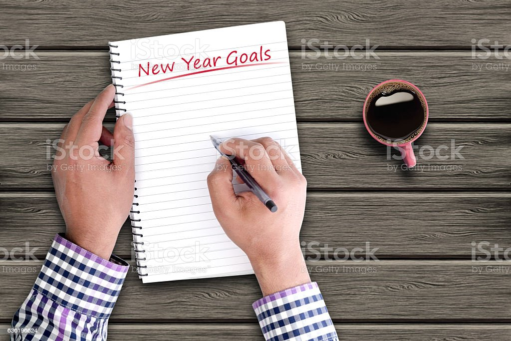 New year resolution stock photo