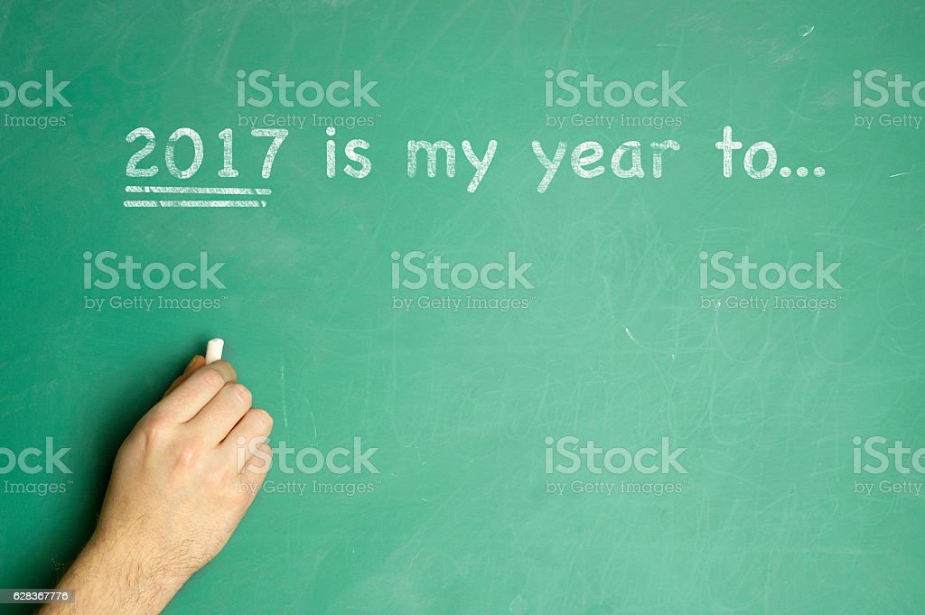 New Year Resolution Planning 2017 stock photo