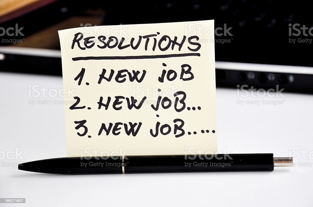 new year resolution to get a better job royalty-free stock photo