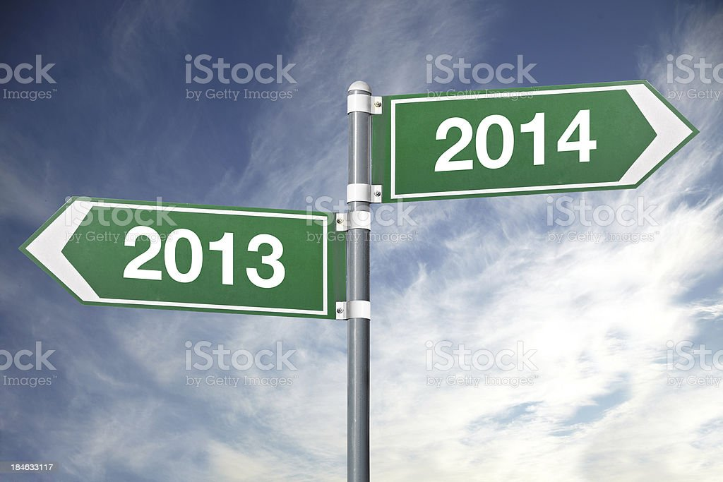 New year road sign royalty-free stock photo