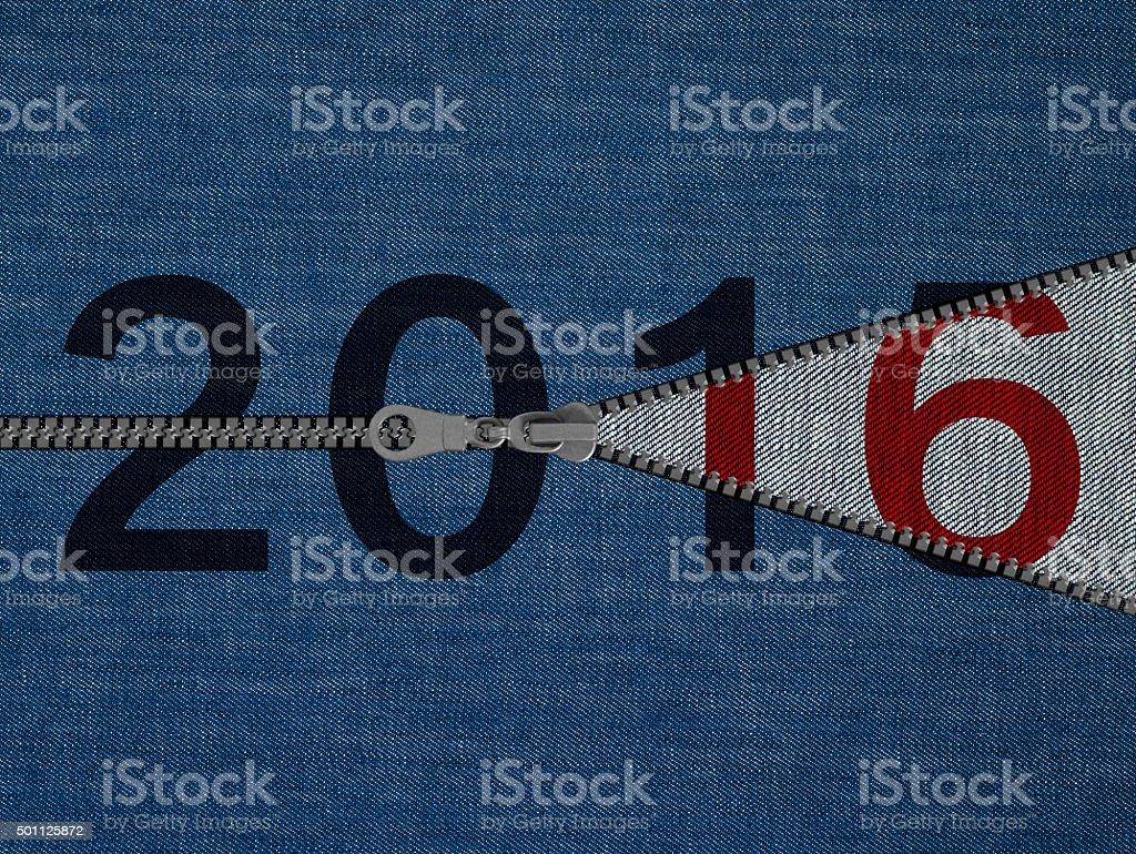 2016 new year textile concept-XXXL stock photo