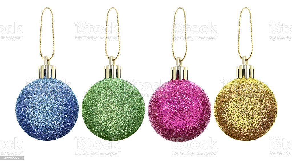 New year toys and decorations isolated on a white background. stock photo