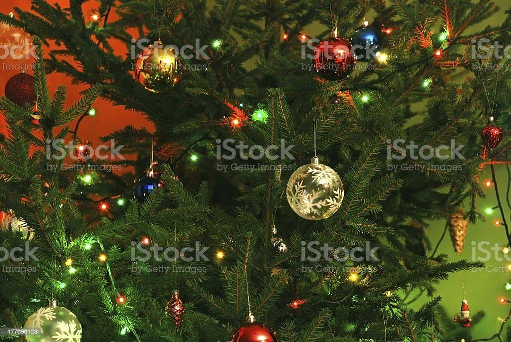 New Year tree decoration royalty-free stock photo