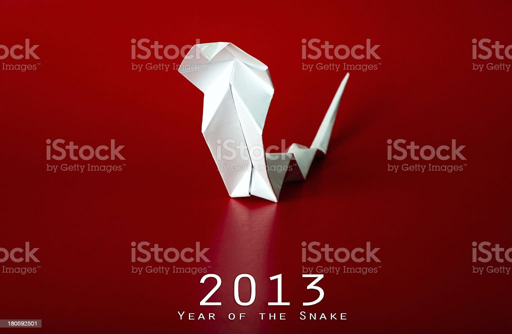 2013 New Year with true paper snake royalty-free stock photo