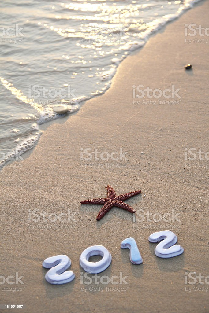 New year's 2012 royalty-free stock photo