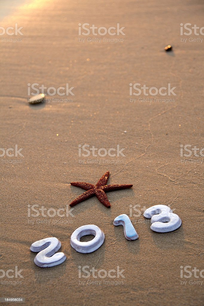 New year's 2013 royalty-free stock photo