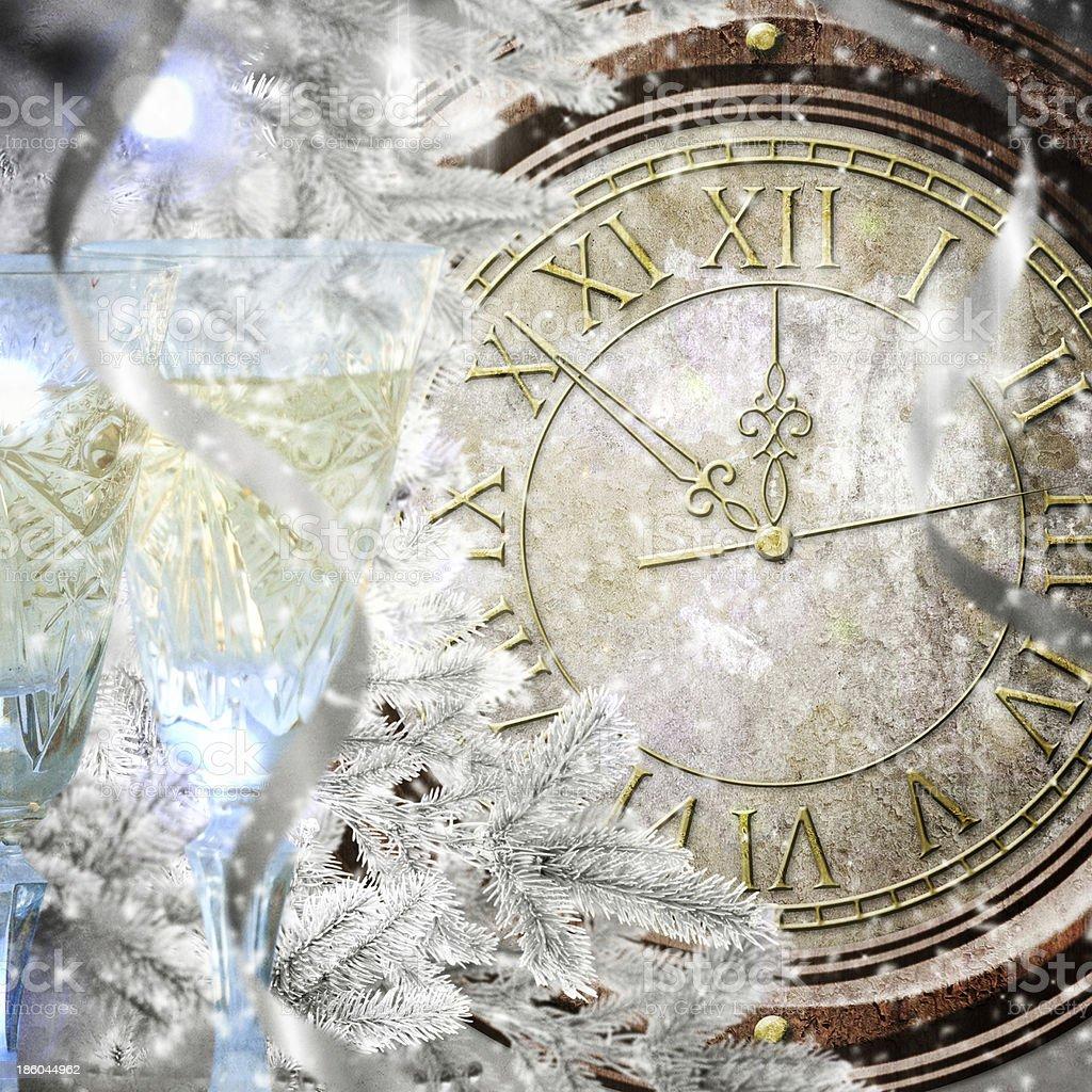 New Year's at midnight royalty-free stock photo