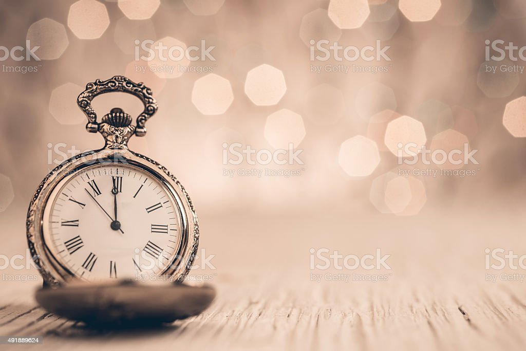 New Year's at midnight stock photo