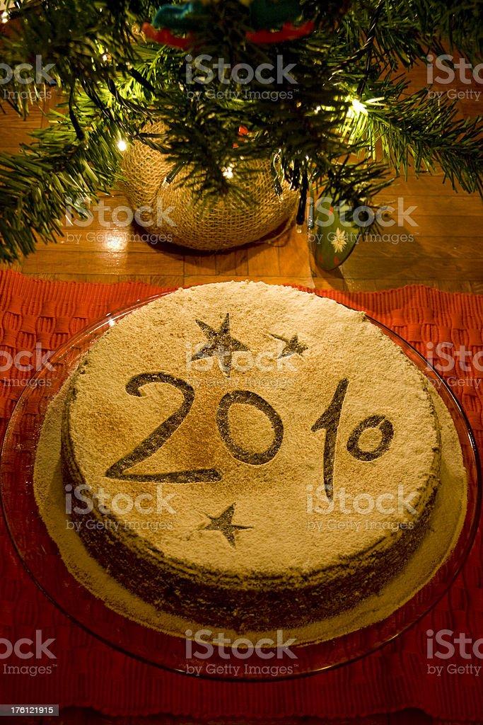 New Year's Cake 2010 royalty-free stock photo