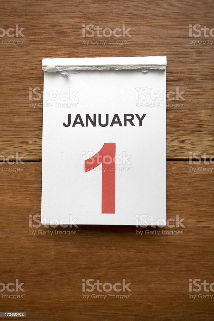 New Years Calendar royalty-free stock photo