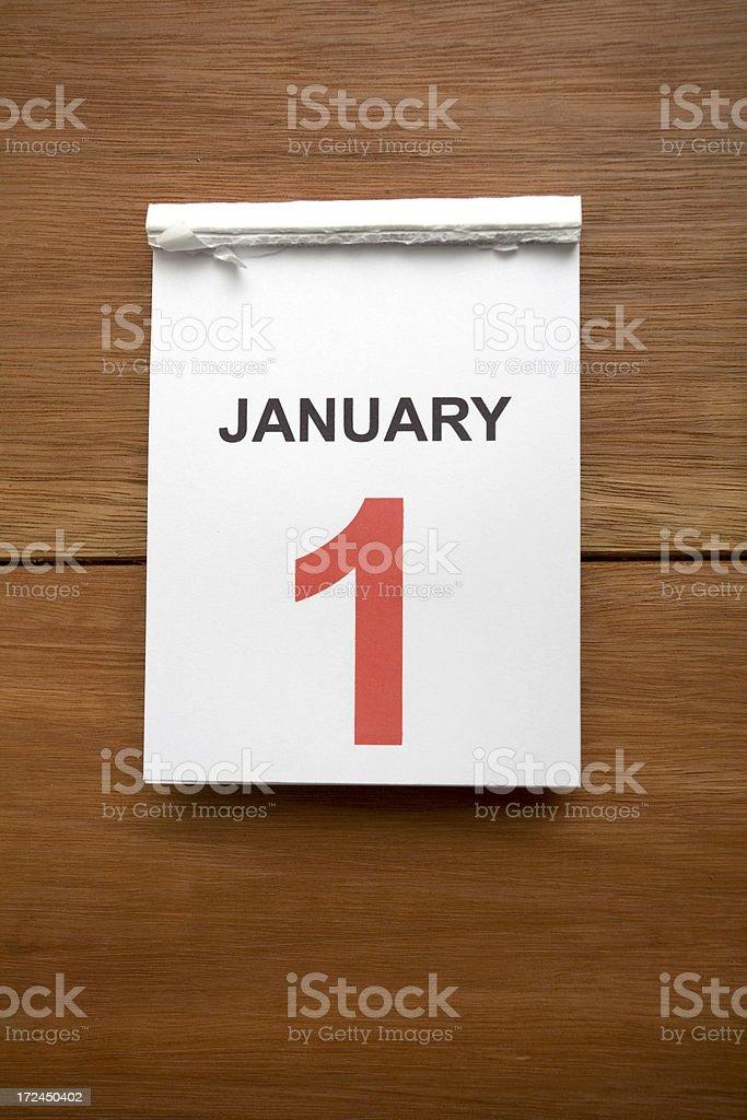 New Years Calendar stock photo