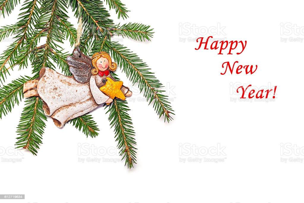 New Year's congratulatory background stock photo