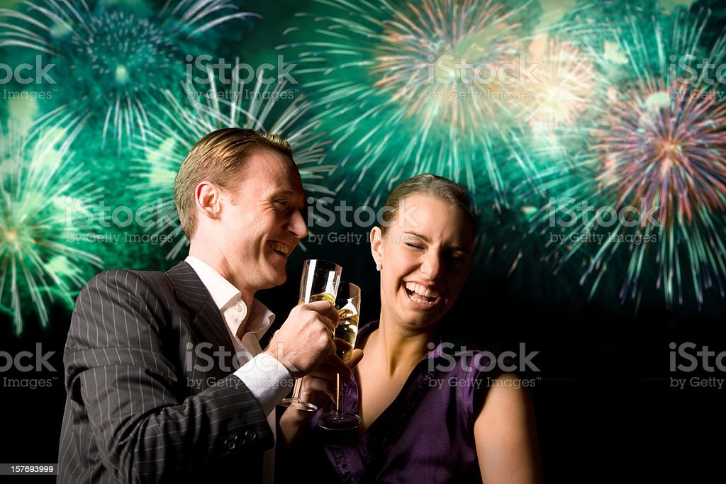 new year's couple royalty-free stock photo