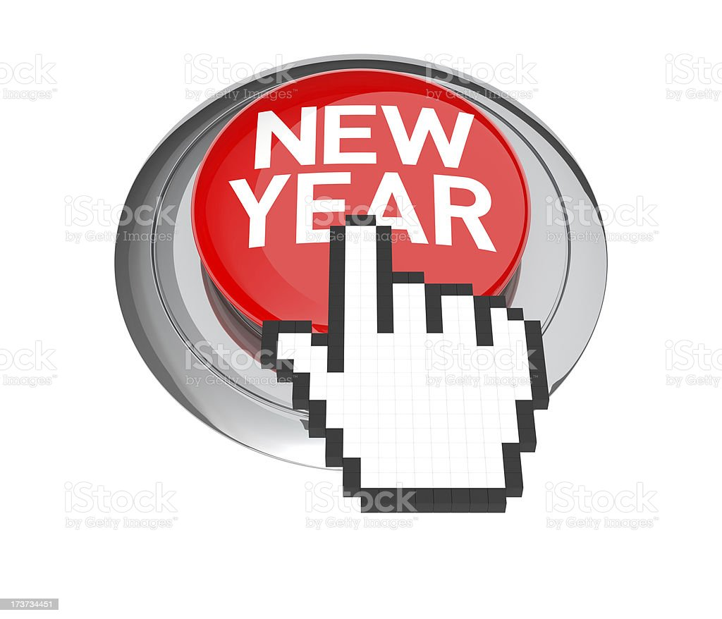 New Year's Day Button royalty-free stock photo