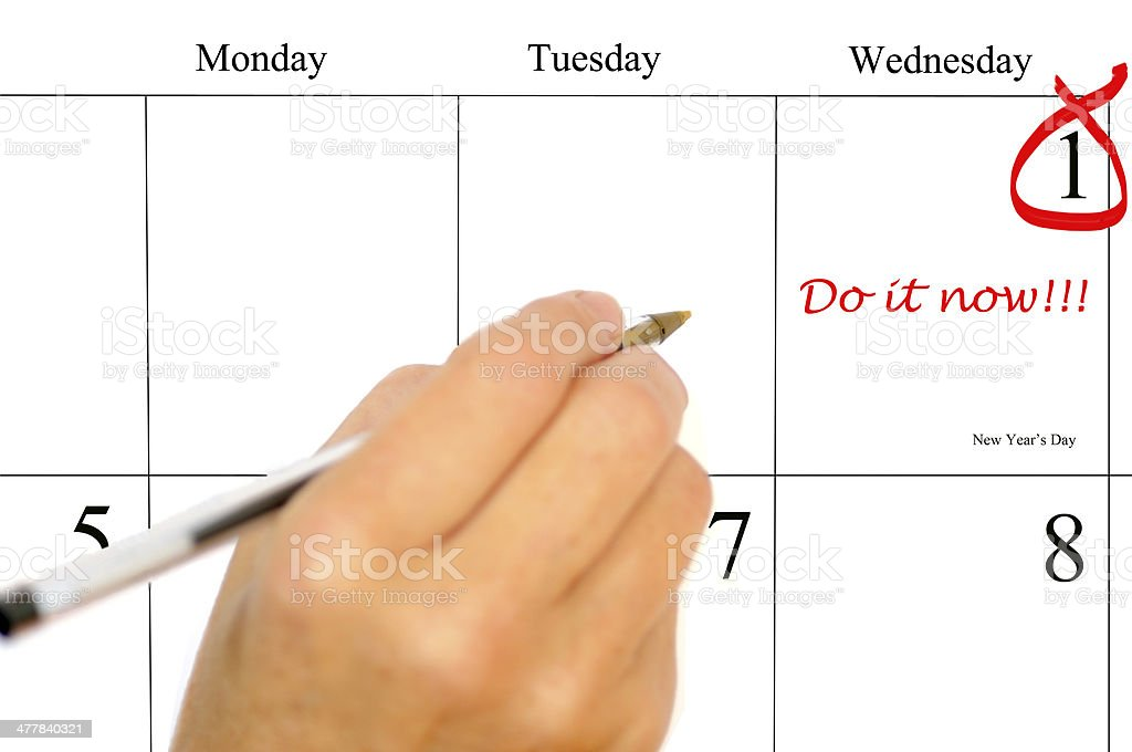 2014  New Year's Day Do it Now! stock photo