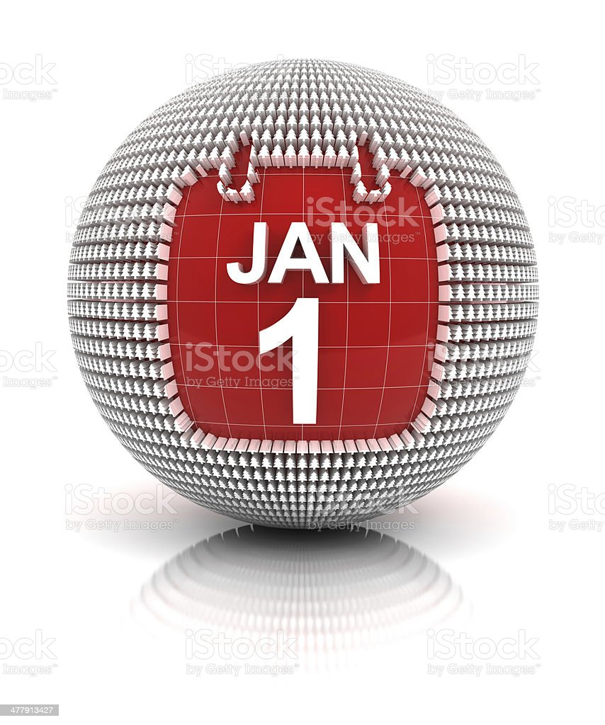 New year's day icon royalty-free stock photo