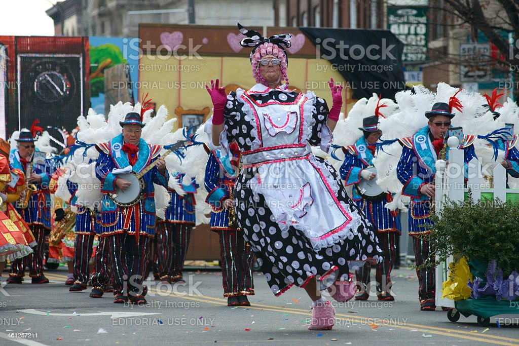 New Year's Day Mummers Parade stock photo