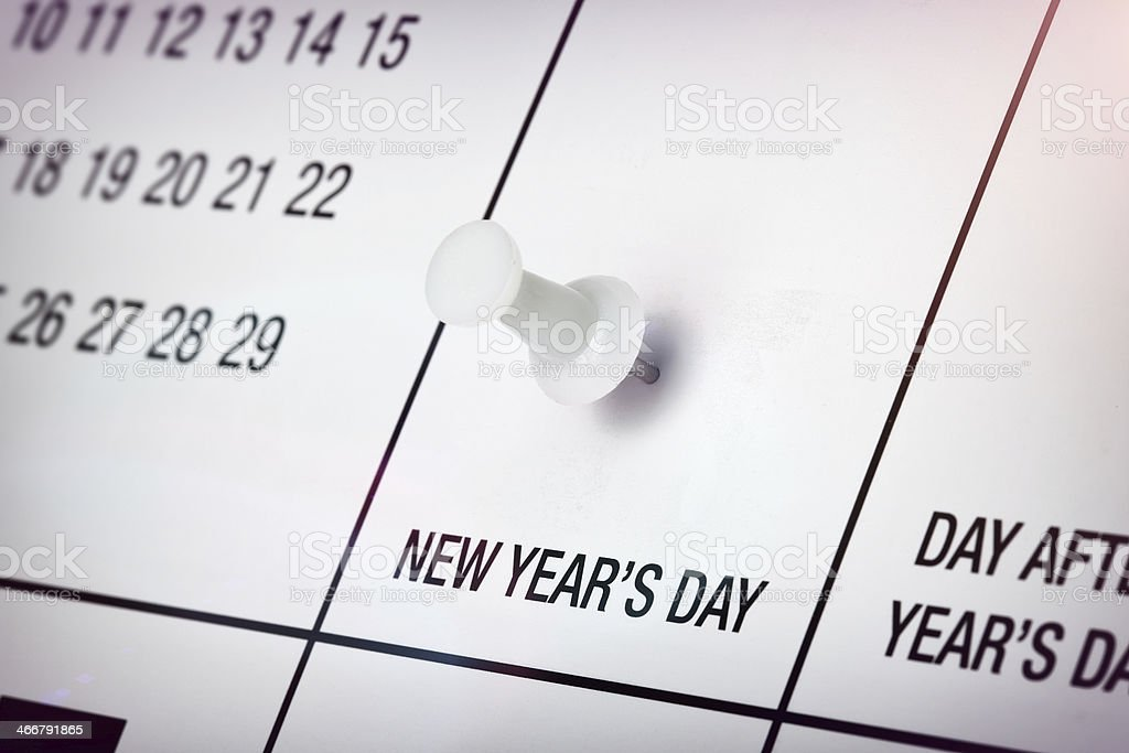 New Year's Day royalty-free stock photo