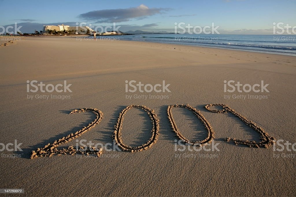 New Year's Eve 2009 at beach royalty-free stock photo