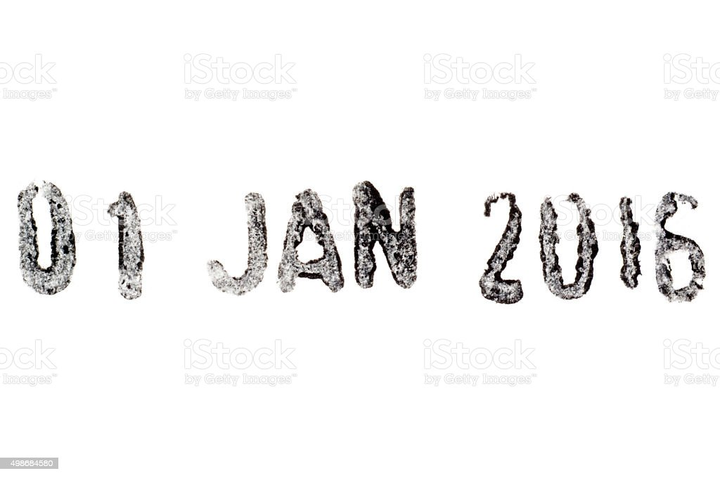 New Year's Eve 2015-2016 date numbers stock photo
