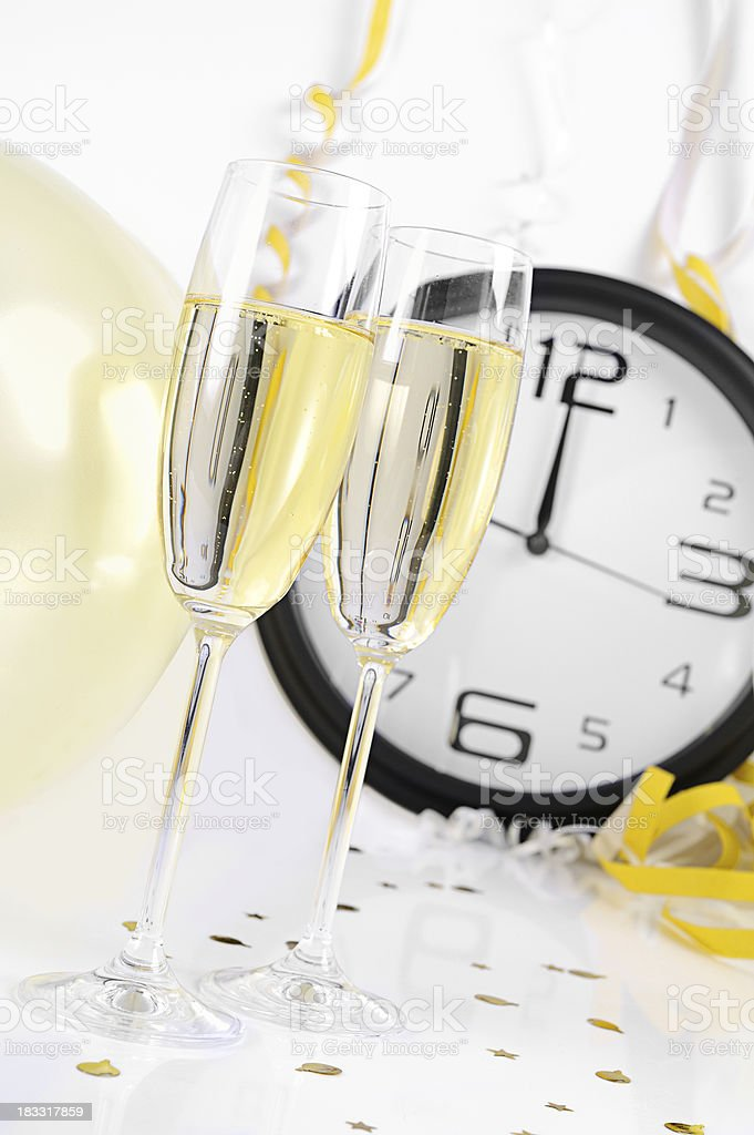 New Years Eve Champagne Celebration royalty-free stock photo