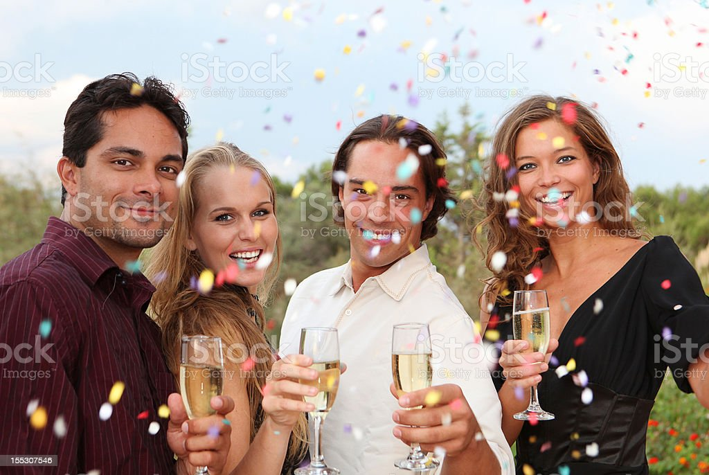 new years eve, engagement wedding or works christmas party royalty-free stock photo